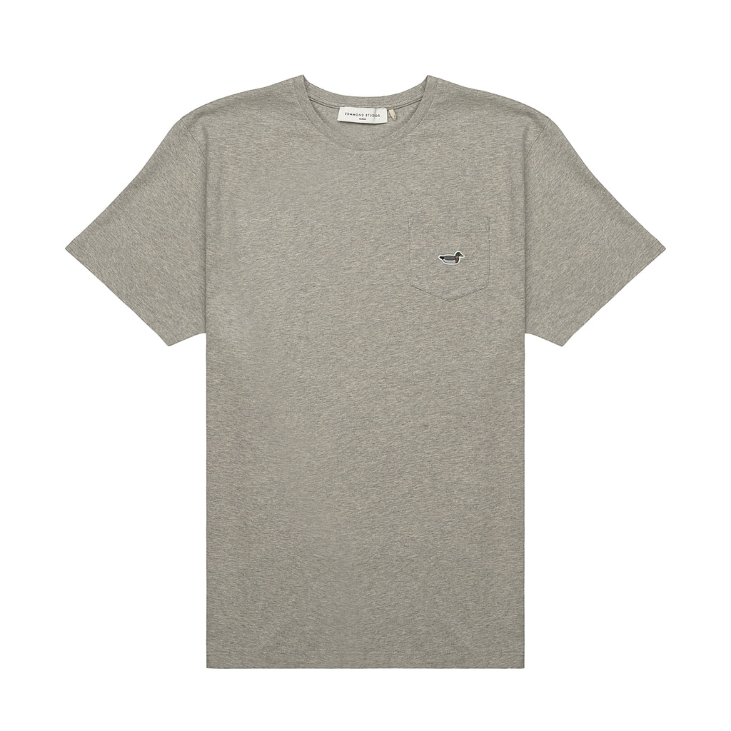 Edmmond Studios Duck Patch Pocket Tee - Grey Melange