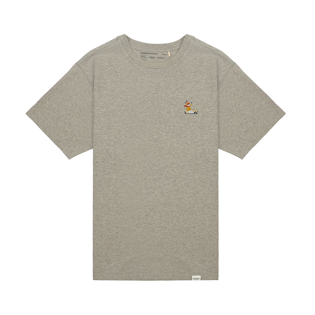 Edmmond Studios Greg Embroidered Tee - Grey Melange
