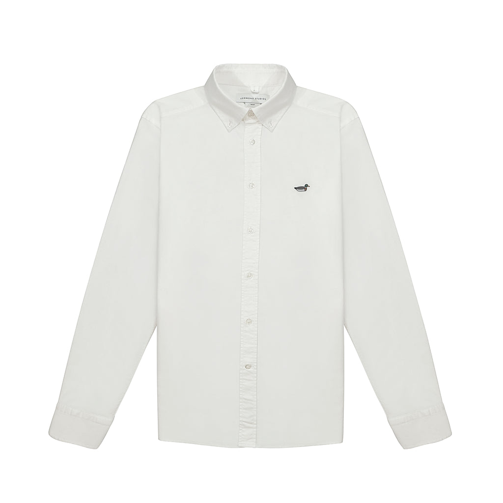 Edmmond Studios Duck Edition Button Down Oxford Shirt - White