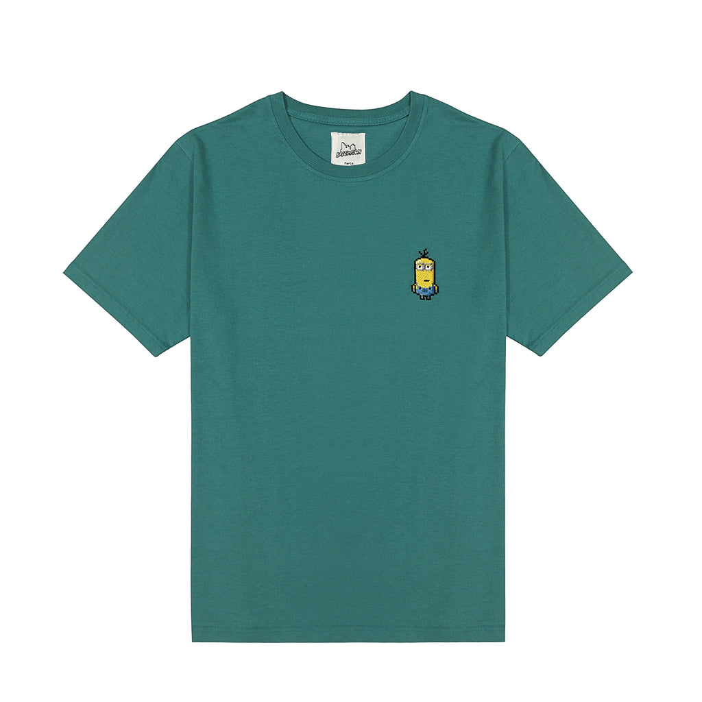 Bricktown X Minions Jaded Embroidered Green Tee