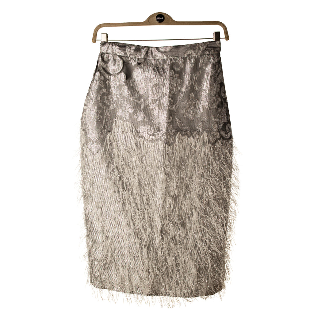 Grey Feather Skirt