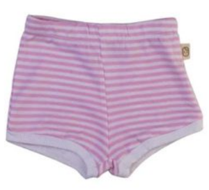 Pink Stripe Baby Shorts