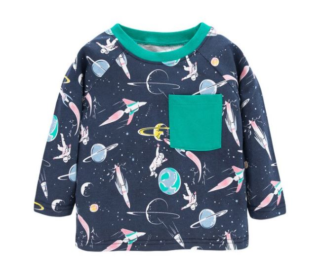 Space long sleeve top