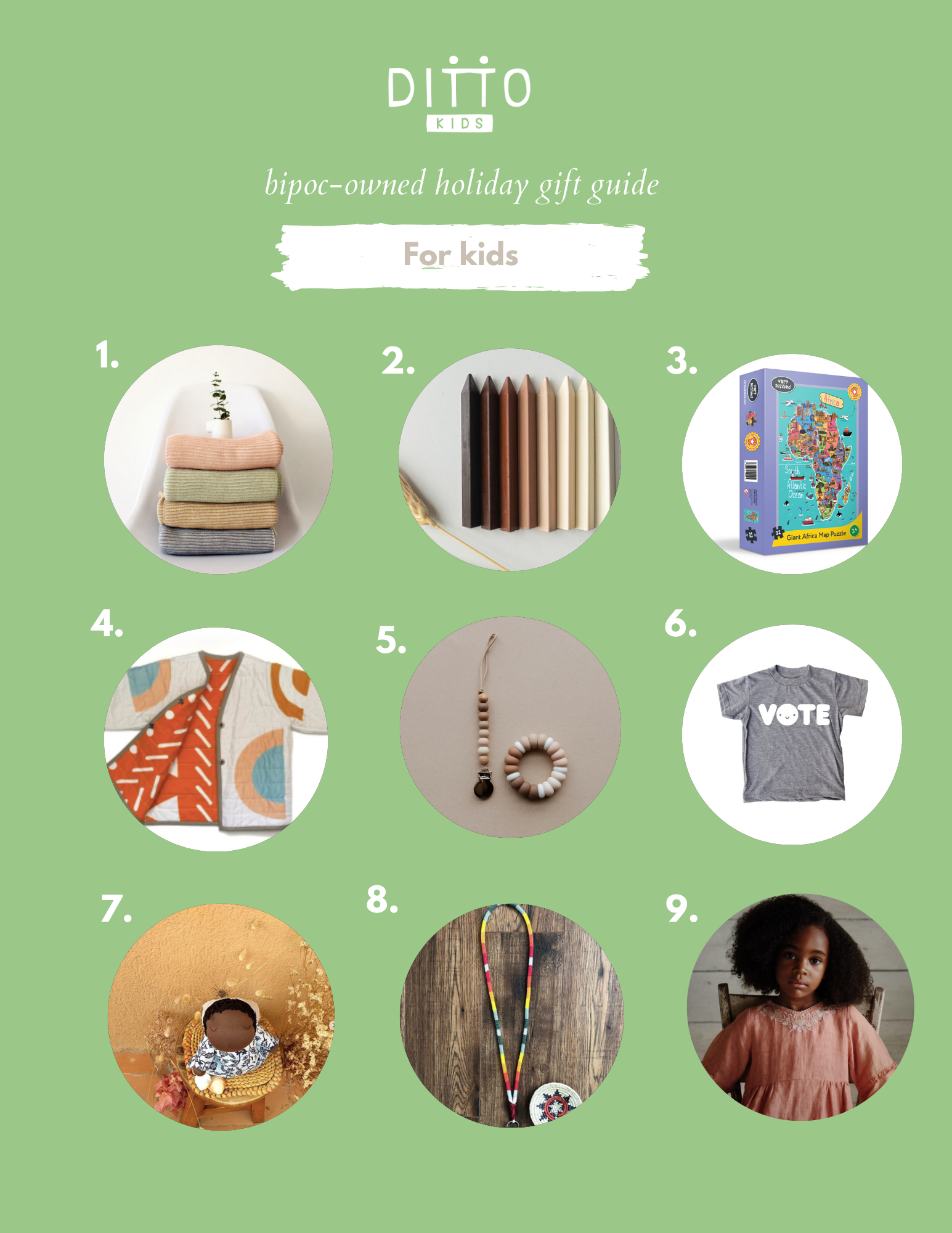 Ditto Kids BIPOC-owned gift guide