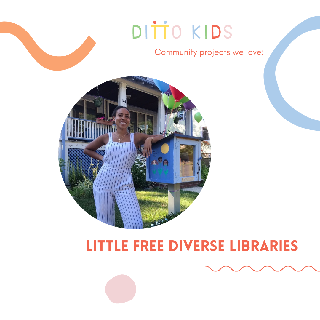 Graphic of Sarah Kayma founder of the Little Free Diverse Library project