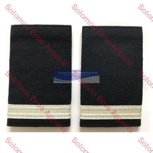 1 Bar Silver Lace Soft Epaulettes - Solomon Brothers Apparel