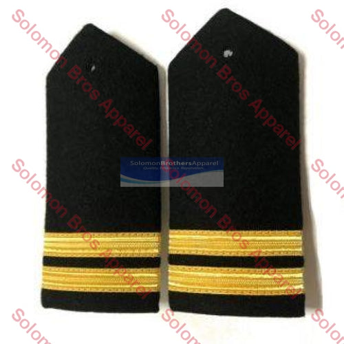 2 Bar Gold Lace Hard Epaulettes - Solomon Brothers Apparel
