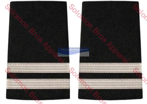 2 Bar Silver Lace Soft Epaulettes - Solomon Brothers Apparel