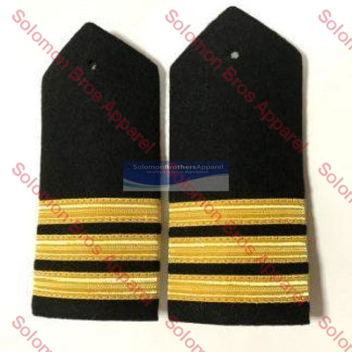 3 Bar Gold Lace Hard Epaulettes - Solomon Brothers Apparel