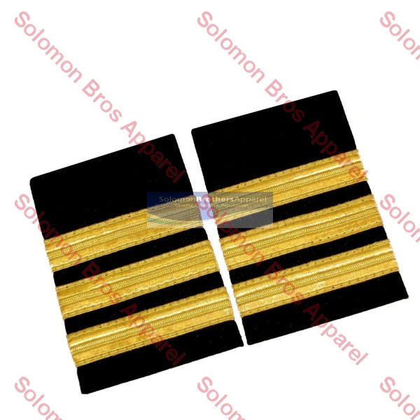 3 Bar Gold Lace Soft Epaulettes - Solomon Brothers Apparel