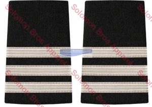 3 Bar Silver Lace Soft Epaulettes - Solomon Brothers Apparel