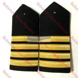4 Bar Gold Lace Hard Epaulettes - Solomon Brothers Apparel