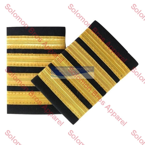 4 Bar Gold Lace Soft Epaulettes - Solomon Brothers Apparel