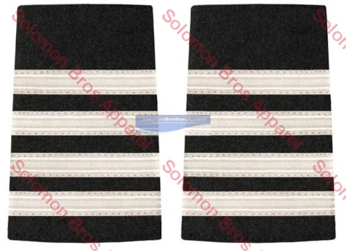 4 Bar Silver Lace Soft Epaulettes - Solomon Brothers Apparel