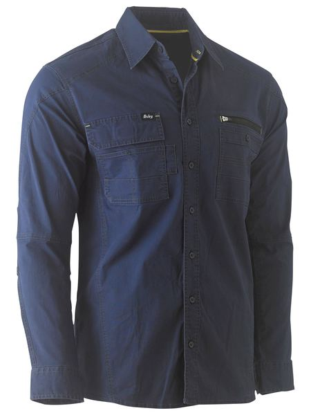 Bisley Flex & Move Utility Work Shirt - Long Sleeve - Solomon Brothers Apparel