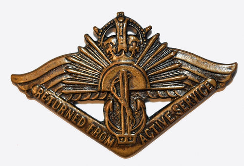 Returned From Active Service Badge ( Current, WWI & WWII ) - Solomon Brothers Apparel