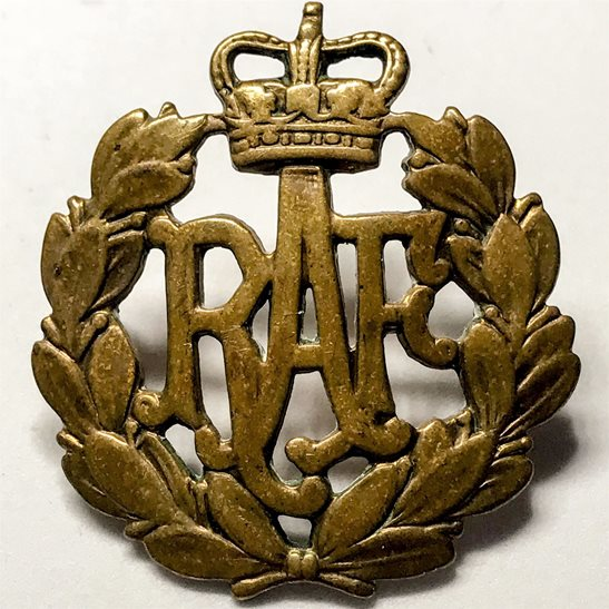 Royal Air Force Queens Crown Cap Badge - Solomon Brothers Apparel