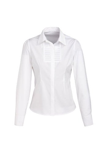 Munich Ladies Long Sleeve Blouse White - Solomon Brothers Apparel
