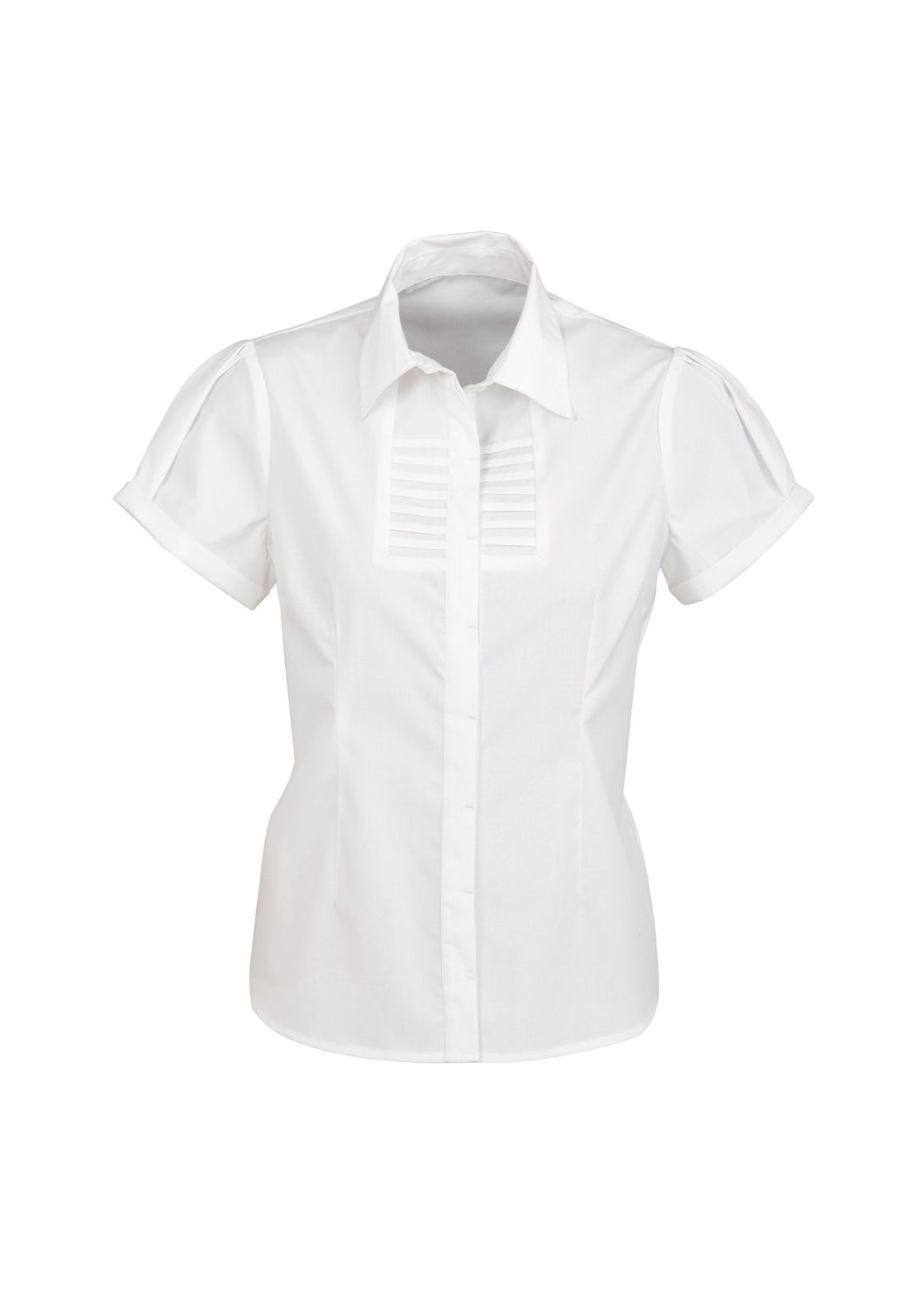 Munich Ladies Short Sleeve Blouse White - Solomon Brothers Apparel
