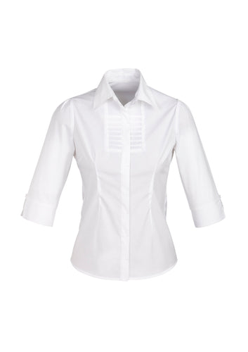Munich Ladies 3/4 Sleeve Blouse White - Solomon Brothers Apparel