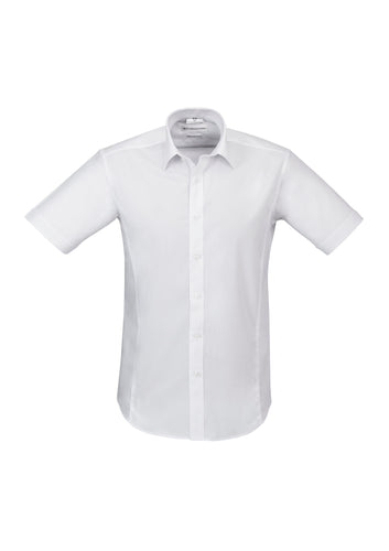 Munich Mens Short Sleeve Shirt White - Solomon Brothers Apparel