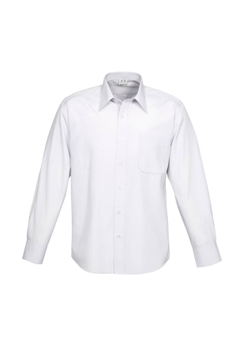Campaign Mens Long Sleeve Shirt White - Solomon Brothers Apparel
