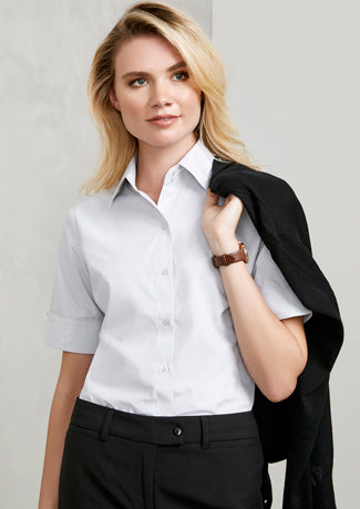 Campaign Ladies Short Sleeve Blouse - Solomon Brothers Apparel