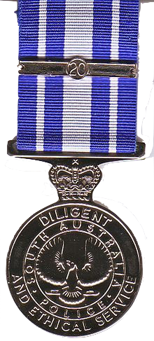 S.A. Police Diligent & Ethical Service Medal - Solomon Brothers Apparel
