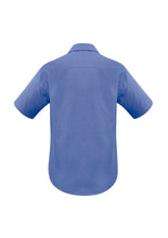 Load image into Gallery viewer, Haven Mens Short Sleeve Shirt Mid Blue - Solomon Brothers Apparel