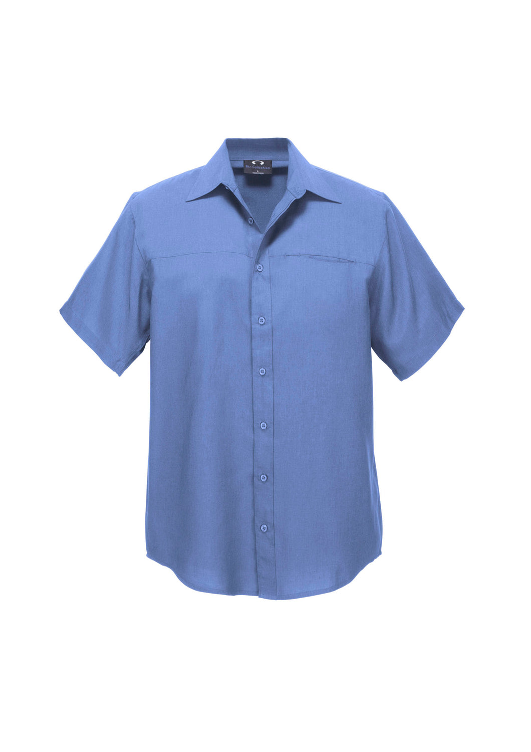 Haven Mens Short Sleeve Shirt Mid Blue - Solomon Brothers Apparel