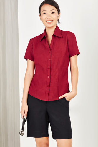 Haven Care Ladies Short Sleeve Blouse - Solomon Brothers Apparel