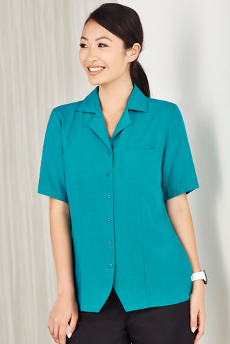 Haven Ladies Short Sleeve Overblouse Teal - Solomon Brothers Apparel