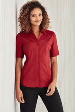 Load image into Gallery viewer, Sorrento Care Ladies Short Sleeve Blouse - Solomon Brothers Apparel