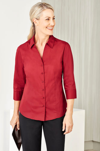 Sorrento Care Ladies 3/4 Sleeve Blouse - Solomon Brothers Apparel