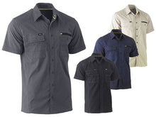 Load image into Gallery viewer, Bisley Flex & Move Utility Work Shirt - Short Sleeve - Solomon Brothers Apparel
