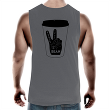 Load image into Gallery viewer, Peace, Love and The Bean- Mens Tank