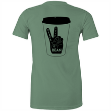 Load image into Gallery viewer, Peace, Love and the Bean- Gals tee