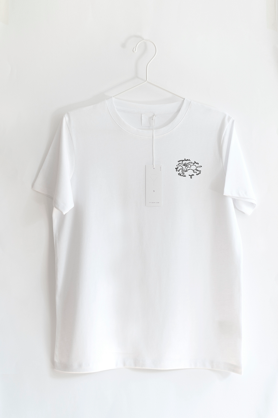 SUPIMA cotton Classic Yt-shirt in white