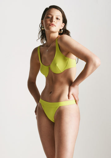 Vreeland Bikini Top in Lime