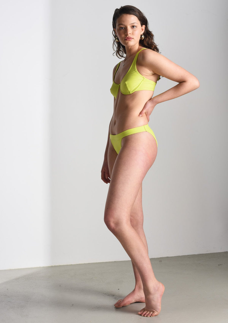 Vreeland Bikini Bottom in Lime