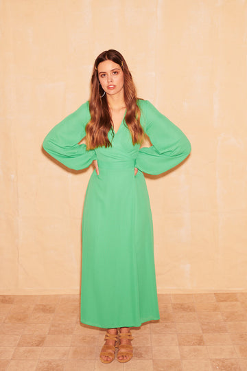 Patsy Wrap Dress in Green