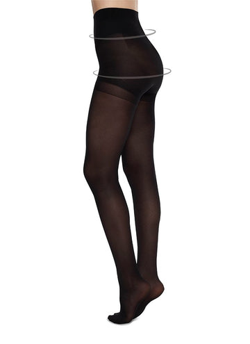 Anna Control Top Tights in Black