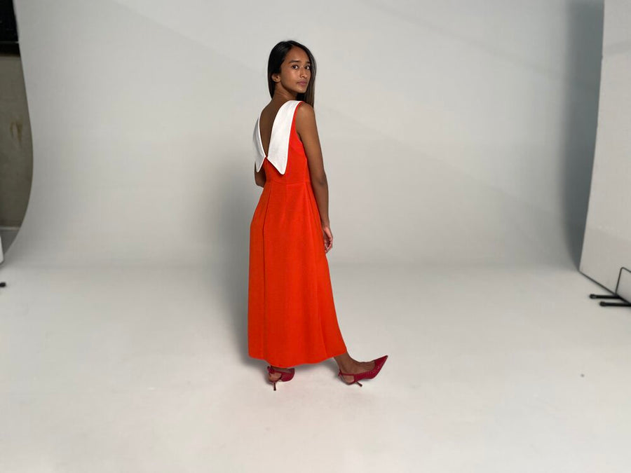 The Susie Maxi Dress in Red