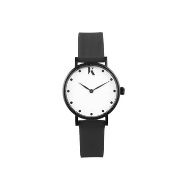 Vegan Jet Black 30mm Face Watch