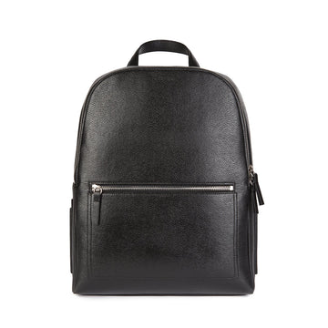 Farrell Vegan Leather Backpack in Black