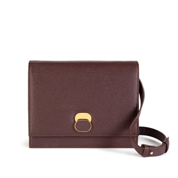 Aphra Vegan Leather Shoulder Bag in Burgundy