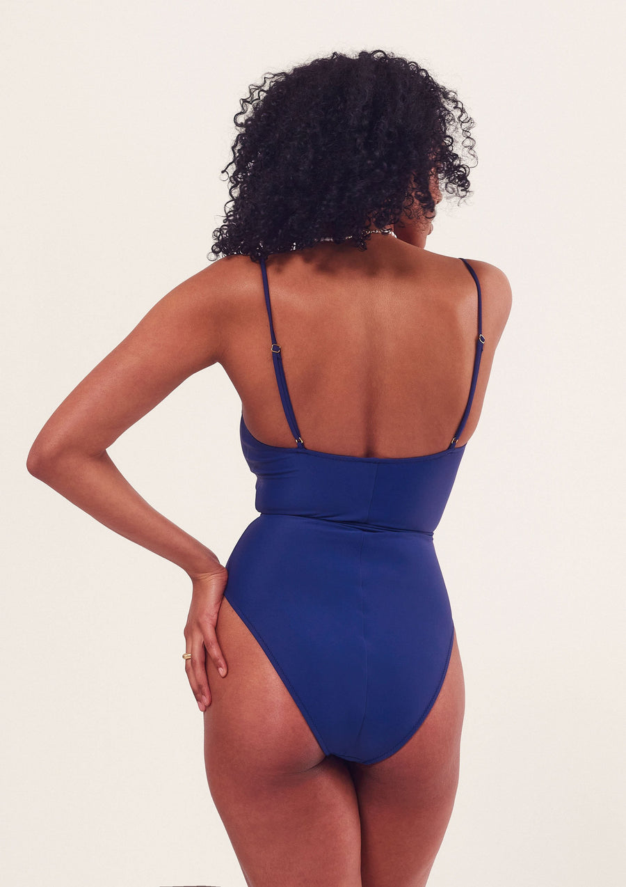 Lennox One Piece Swimsuit in Blueberry
