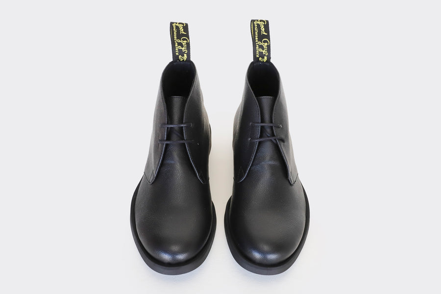 Cooper Vegan Apple Leather Desert Boots in Black