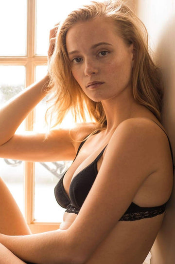 Casamance Organic Cotton Bra in Black