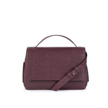 Zanele Vegan Leather Cross Body Bag in Burgundy